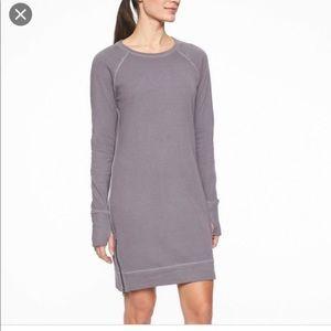Athleta Eco Wash Side Zip Sweatshirt Dress